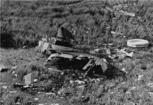 The wreckage of Eastern Airlines Flight 401.