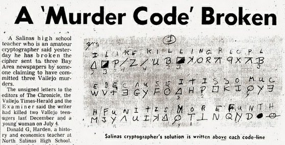 Zodiac Killer Messages Decoded