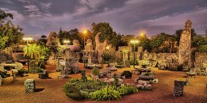 Coral Castle lit up image