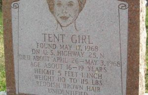Tent girl grave