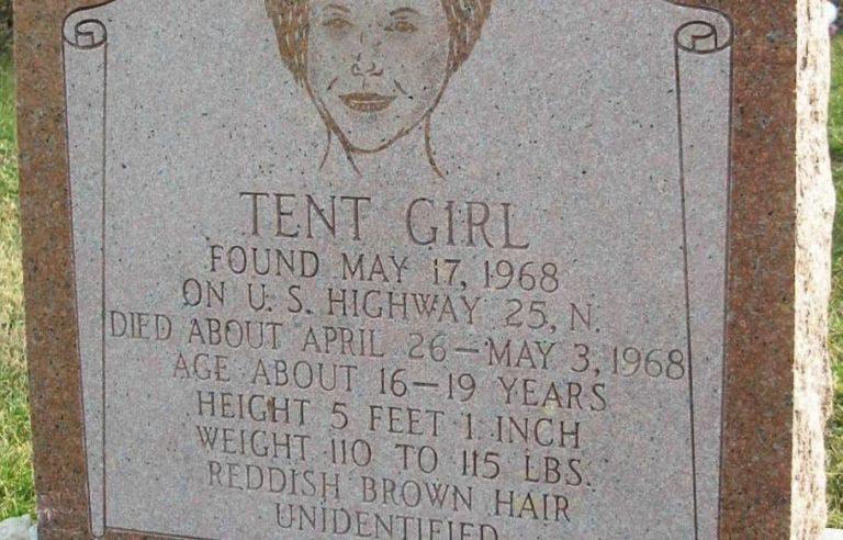 Tent girl grave