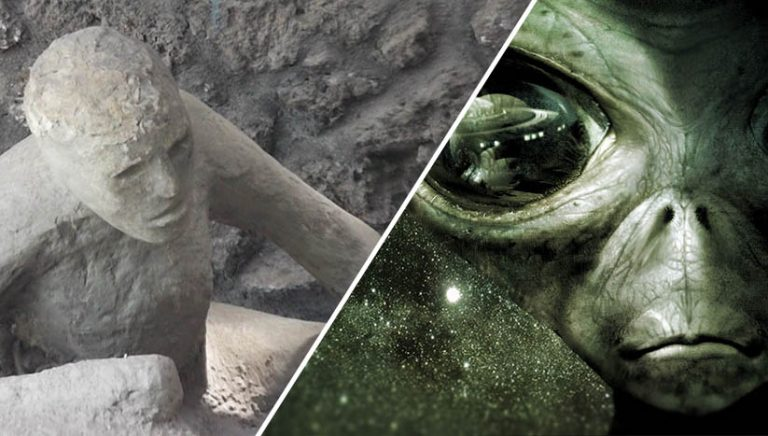 Turned to stone by aliens
