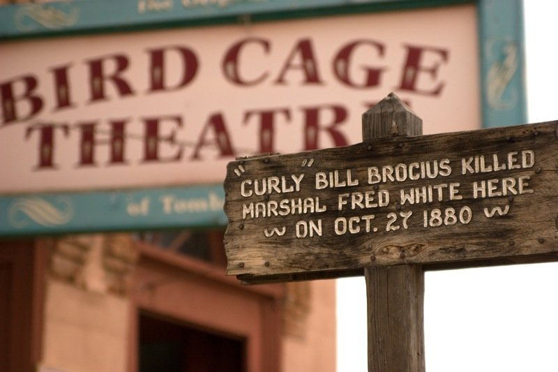 Birdcage Theatre and Curly Bill Brocius Marker