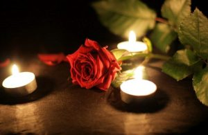 Candle rose