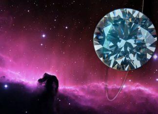 Diamond in space