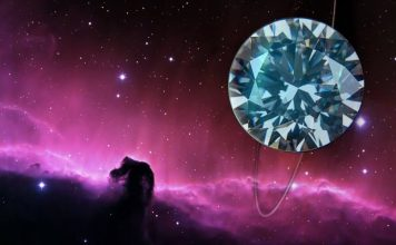 Diamond in space