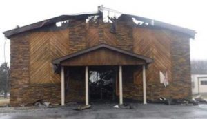 Church after fire