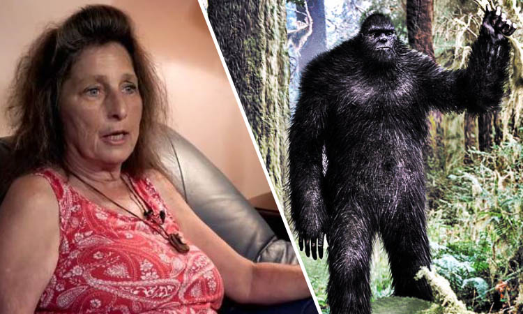 Woman bigfoot
