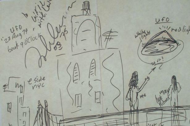 Lennon UFO sketch