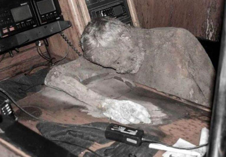 Mummified captain