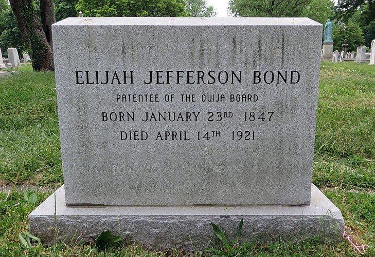 Elijah Bond Ouija Tombstone