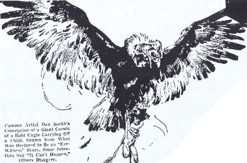 An illustration of the 1977 Lawndale, Illinois Thunderbird Attack.