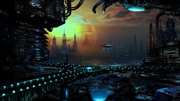 Alien city lights