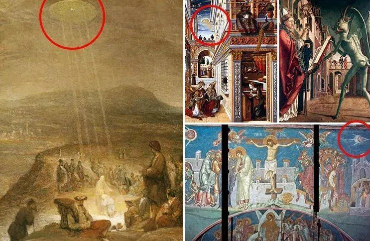 UFO in paintings