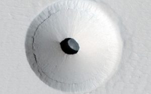 Hole in mars