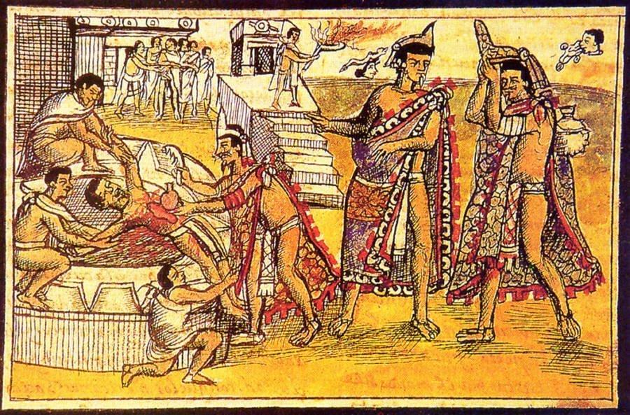 human sacrifice aztec