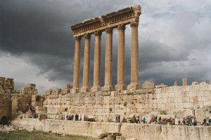Baalbek's Roman Temple Of Jupiter's Ruins