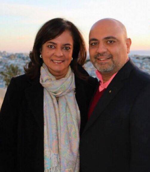 Anita Moorjani and her husband