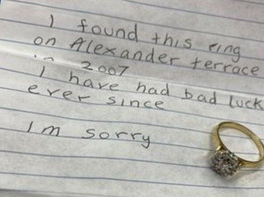 """Bad Luck Ring Was Sent To The Police Station And """"Strange Things"""" Began There"""