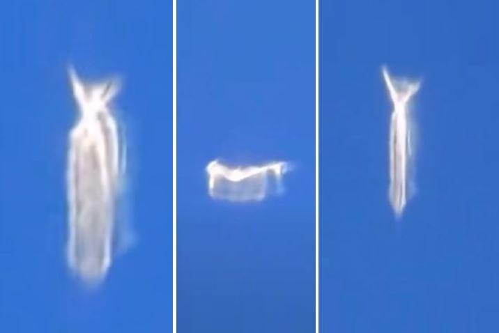 Airplane Passenger Captured On Video An Unusual UFO